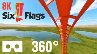 Google Cardboard 360 8K Roller Coaster Six Flags Magic Mountain Tatsu SBS 3D VR Box
