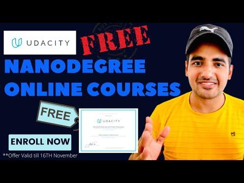 Udacity Nanodegree Free | Udacity Free Courses Certificate | Free ...