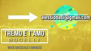 Bocelli - Tremo e t'amo  ''base musicale karaoke''   (demo)