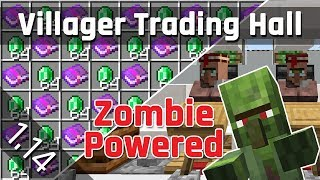 Villager Trading Hall Tutorial With Zombie Discounts | Minecraft 1.14.4+ (Java Edition)