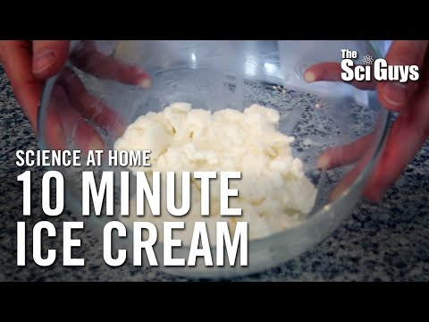 Video The Sci Guys: Science at Home - SE1 - EP10: Melting Points: Ice Cream in a Bag - 10 Minute Ice Cream