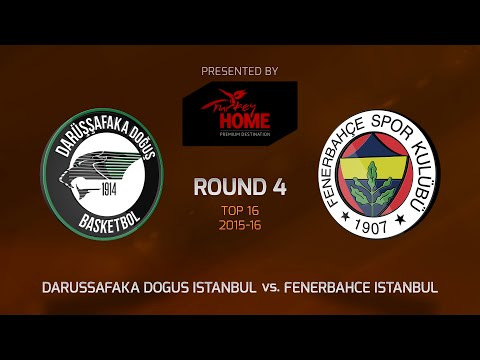Highlights: Top 16, Round 4, Darussafaka Dogus Istanbul 100-106 Fenerbahce Istanbul