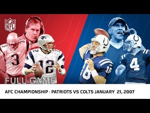 Tom Brady vs. Peyton Manning: 2006 AFC Championship | Patriots vs Colts | NFL Full Game