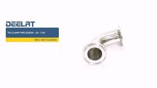 """Tri-Clamp Pipe Elbow – 3A – 1-1/4""""     SKU #D1140558"""