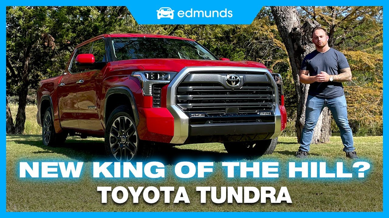 s1GT2BQklvM - 2022 Toyota Tundra First Drive | Toyota's Large Pickup Finally Redesigned | Cost, Engine, Towing & More