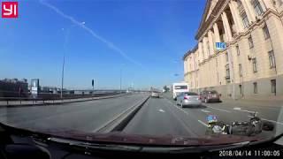 ДТП с участием мотоцикла на Арсенальной наб. 14.04.2018 11:00
