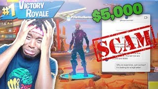 I Tried to Buy a $5,000 Hacked Galaxy Skin Account and THIS HAPPENED... FORTNITE SCAMMER BEWARE!