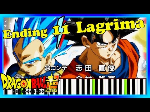 Newest Dragon Ball Super Ending 11 Piano Cover. Lagrima by OnePixcel Synthesia Tutorial.