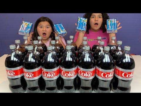 Coca Cola VS Mentos SLIME Challenge