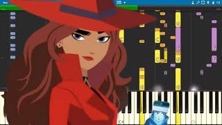 IMPOSSIBLE REMIX   Carmen Sandiego Theme Song   Piano Cover   Netflix