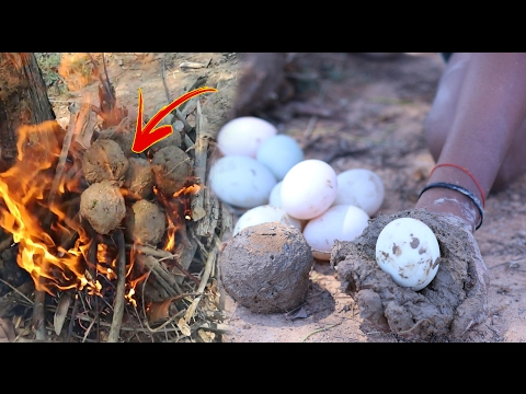 Amazing Two Children Cook Egg Inside Mud - How To Cook Egg In Cambodia
