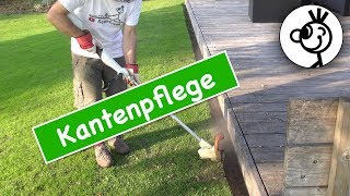 Rasenkanten mit Freischneider pflegen - einfach und schnell