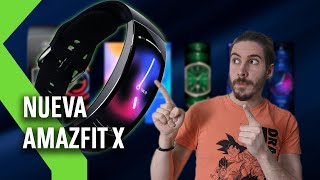 AMAZFIT X con Pantalla CURVA: la nueva pulsera deportiva de Xiaomi con 7 días de AUTONOMÍA y GPS