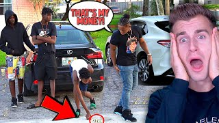DROPPING MONEY In The HOOD Social Experiment! (**BAD IDEA**)
