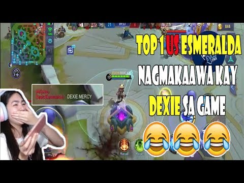 DEXIE PINAGTAWANAN ANG TOP 1 US ESMERALDA SA RANKED GAME | 300 DIAMONDS GIVEAWAY | MOBILE LEGENDS