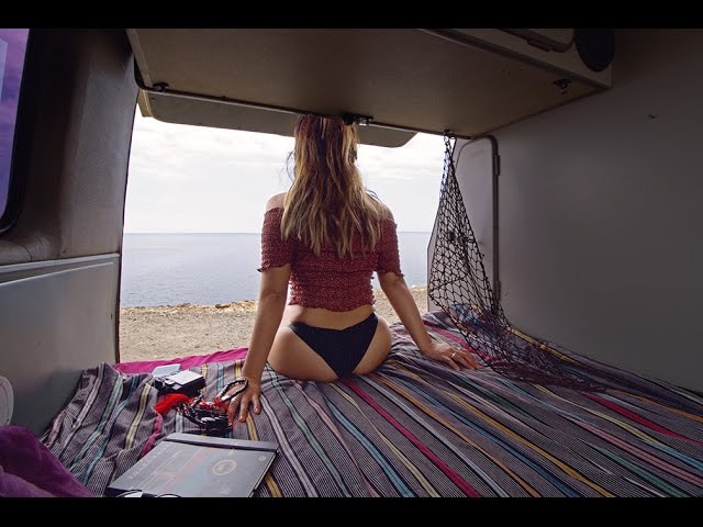 Solo Travel One Girl In Tenerife Canary Island