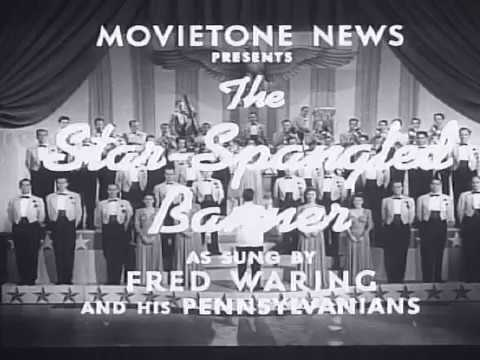 Fox Movietone News, U.S. National Anthem, by Fred Waring. 1942