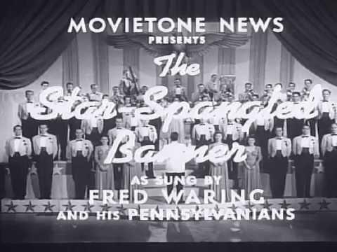 Fox Movietone News, U.S. National Anthem, by Fred Waring. 1942