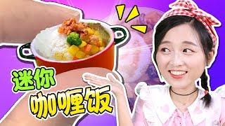 迷你廚房之世界上最小的香噴噴咖哩雞飯!小伶玩具   Xiaoling toys