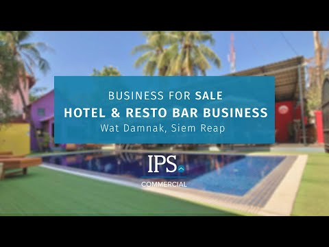 Bar/Restaurant with 16 Bedroom Hotel Business  For Sale - Wat Damnak, Siem Reap thumbnail