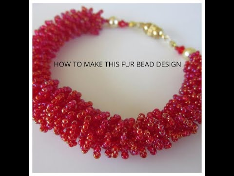 How to make fur beaded jewelry