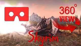 360 Video - Dragon Attack near Silent Moons Camp, Skyrim