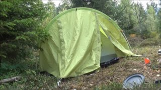 Atumun camping with my Vaude campo grande tent in rain and wind