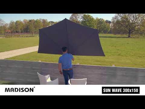 Madison balkonparasol Sun Wave  300cm demonstratie