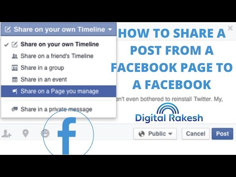 How do I share posts from my Facebook