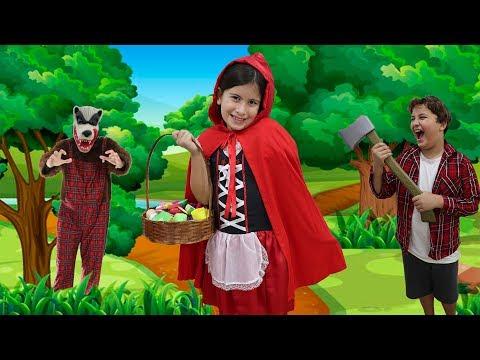 Download CHAPEUZINHO VERMELHO E O LOBO MAU !!! COM MARIA CLARA E JP   little red riding hood story Mp4 HD Video and MP3