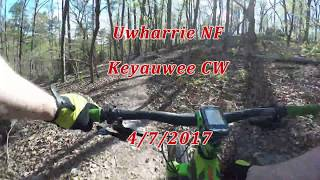 Riding the Keyauwee Trail clockwise.