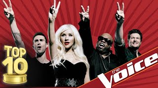 THE VOICE USA!  TOP 10 FEMALE BLIND AUDITIONS OF ALL TIME!!!