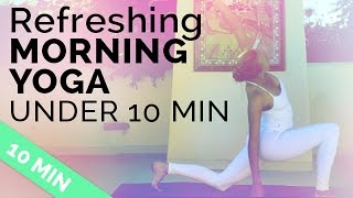 Easy Morning Yoga Sequence to Start Your Day Right (under 10 minutes!) - Video Youtube