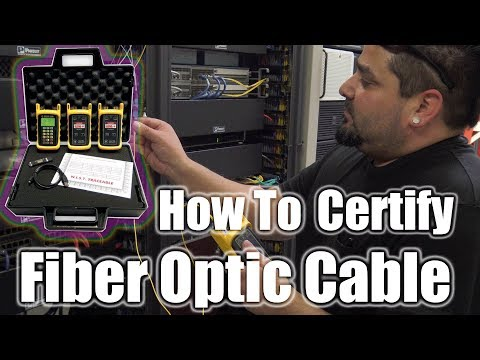 How to Certify Fiber Optic Cable at 850nm and 1310nm ... - YouTube