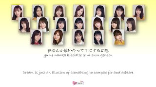Nogizaka46 (乃木坂46) Boku wa boku wo sukininaru (僕は僕を好きになる) Kan Rom Eng Color Coded Lyrics
