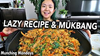LAZY ONE PAN BIBIMBAP (KOREAN MIXED RICE) RECIPE & MUKBANG // Munching Mondays Ep.27