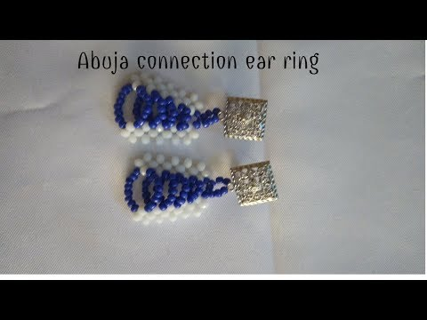 Bead tutorial/how to make Abuja connection ear ring
