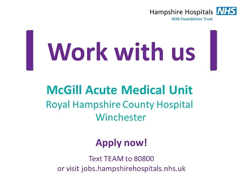 Work with us - McGill Acute Medical Unit