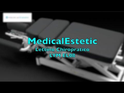 LYM Lettino elettrico chioropratica 6 sezioni