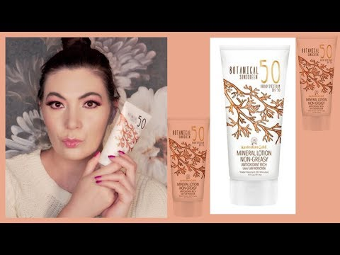 Australian Gold Botanical SPF 50 Lotion Review | Best Mineral Sunscreen? | #SunscreenSunday