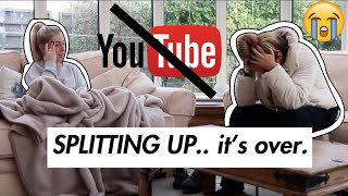 TELLING MY BFF IM QUITTING OUR YOUTUBE CHANNEL.. ULTIMATE PRANK | syd and ell