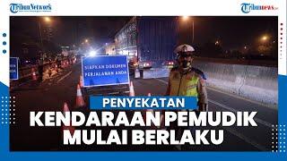 Penyekatan Kendaraan Pemudik di Tol Jakarta Cikampek Mulai Diberlakukan