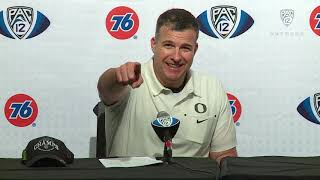 Oregon football's press conference following its Pac-12 championship victory