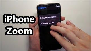 iOS 13 Turn On/Off Zoom iPhone XS Max & Full Screen Zoom