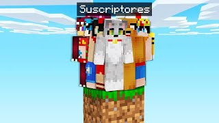 ¡200 SUSCRIPTORES vs 1 BLOQUE en MINECRAFT! 😱 ACENIX en MINECRAFT