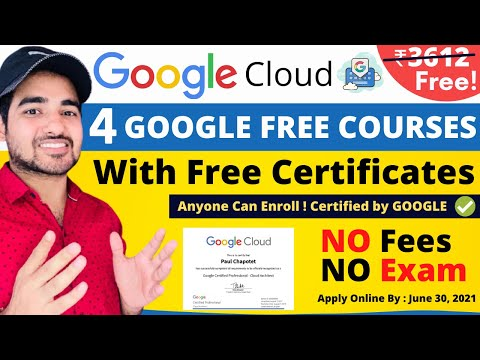 Google 4 Free Courses With Certificate | Free Google Certification Courses | Students | Professional