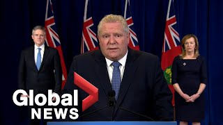 "Coronavirus outbreak: Doug Ford shocked by ""unthinkable"" job losses following COVID-19 pandemic"