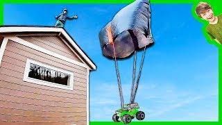 Monster Truck Trash Bag Parachute