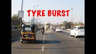 TYRE BURST | Roads are unpredictable Ride carefully | ABS SAVED ME