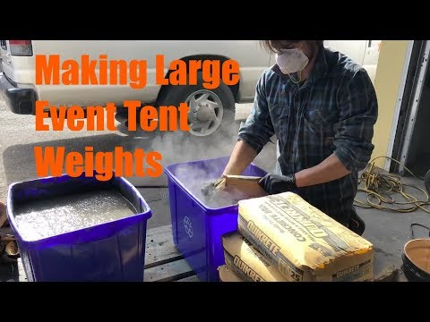 Making Event Tent Weights - No Idea What I'm Doing! - Time Lapse